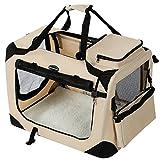 SONGMICS Hundebox Transportbox Auto Hundetransportbox...