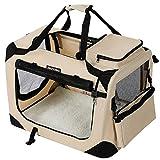 FEANDREA Hundebox Transportbox Auto Hundetransportbox...