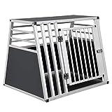 EUGAD Hundetransportbox Alu Hundebox Reisebox Autobox...